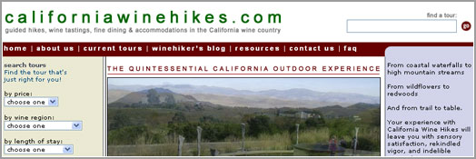 California Wine Hikes - Sunnyvale, California