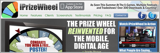iPrizeWheel, Virtual Prize Wheel, App, iPad